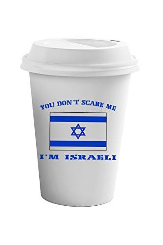 Style In Print You Don't Scare Me I'm Israeli Coffee Ceramic Travel Tumbler Mug 11oz ()