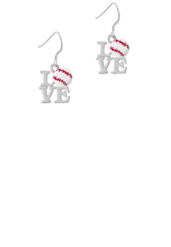 (Love with Baseball - French Earrings)