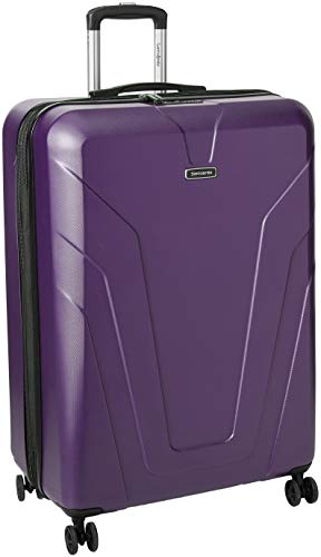 Samsonite Frontier Spinner Carry-On Luggage Large Purple Suitcase