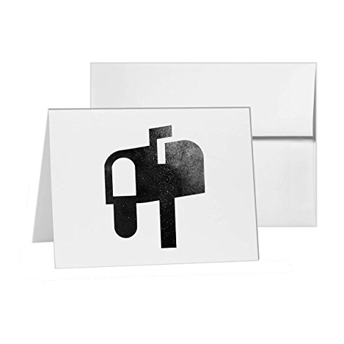 Mail Box Send Read Message, Blank Card Invitation Pack, 15 cards at 4x6, Blank with White Envelopes Style 11892