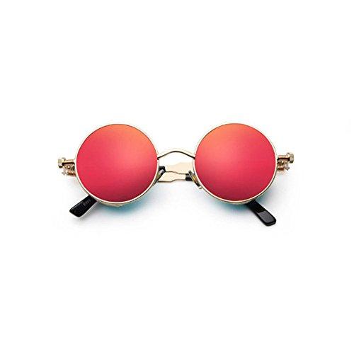 Aoligei Lunettes de soleil de Steampunk classiques européennes et américaines autour de personnalité verres réfléchissants lunettes de soleil hommes et femmes lunettes a10