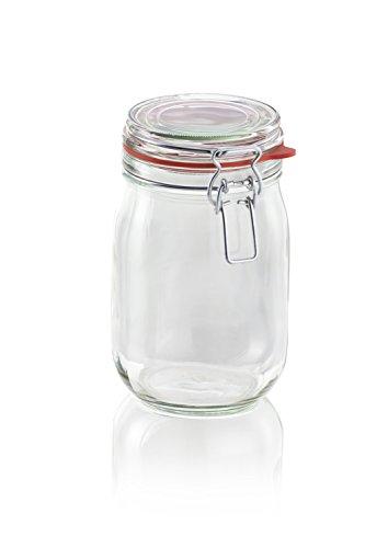 Leifheit 3193drahtbugelglas Glass Storage Jar, 1140ml (Best Leifheit Glass Jars)