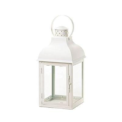 Koehler Home Decor Large White Gable Lantern