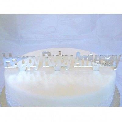 Ruby Anniversary Mirrored Cake Topper