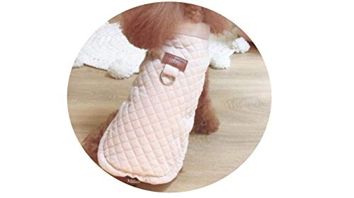 Fanatical-Night Dog Clothes Pet for Dogs Pets Clothing Winter Dog Sweater Pet Cat Dress for Dogs,Pink Coat,S ()