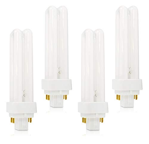 (4 Pack) PLC-18W 827, 4 Pin G24q-2, 18 Watt Double Tube, Compact Fluorescent Light Bulb, Replaces Sylvania 20683 and Philips 38329-9 - PL-C 18W/827/4P/ALTO 18w Compact Fluorescent Bulb