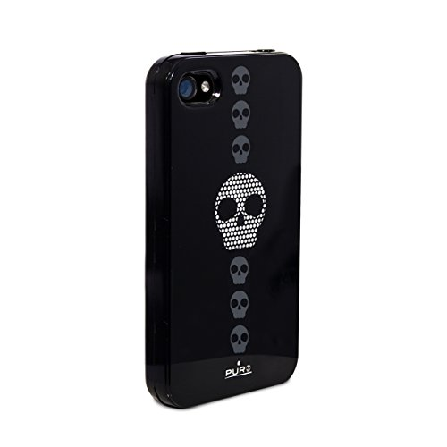 Puro - Silicon Case / Schutzhülle - Skull - für Apple iPhone 4/4S (TPU)