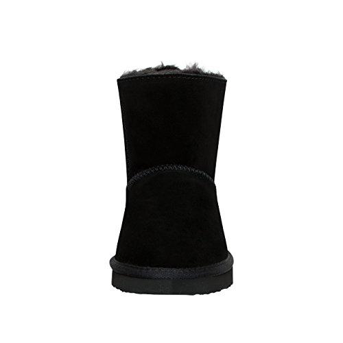 Schwarz de y para piel Black mujer 5028 forro de de Skutari resistente ante suela invierno con Botines ZqBtPt
