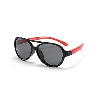 GGSSYY Polarized Kids Gafas de sol Niños Niñas Bebé Infantil Gafas de sol 100% Uv400 Eyewear Child Shades, Silver: Amazon.es: Deportes y aire libre
