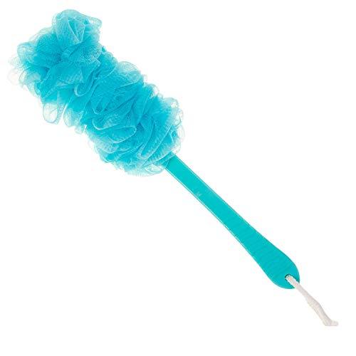 (Arswin Lufa Back Scrubber for Shower, Anti-Slip Long Handle Bath Sponge Shower Brush, Soft Nylon Mesh Back Cleaner Washer, Body Bath Brush for Women and Men, Bathroom Shower Accessories (Blue) )