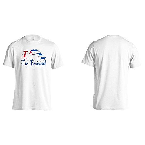 Neu Ich Liebe Reise Kuba Herren T-Shirt l726m