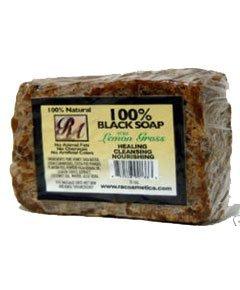 RA Cosmetics 100% Natural Black Soap with Cucumber Melon 5oz