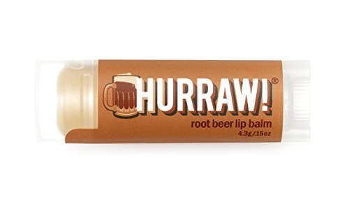 HURRAW! Root Beer Lip Balm: Organic, Certified Vegan, Certified Cruelty Free, Non-GMO, Gluten Free, All Natural – Luxury Lip Balm Made in the USA – ROOTBEER - Root Beer Lip Balm