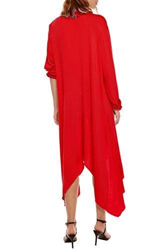 Gilet Top Longue Femme Asym Manteau Cardigan Meaneor Ouvert wq8PztX