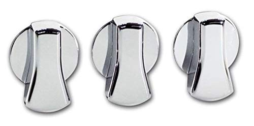 Pirate Mfg MU0005SC 2005-09 Mustang Chrome Billet A/C Knob Covers ()