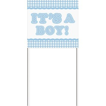 Gingham Boy Yard Sign ()