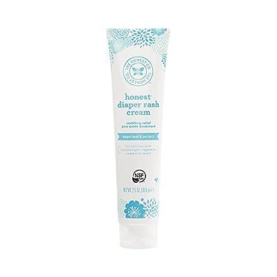 The Honest Company Diaper Rash Cream with Organic Shea Butter, Jojoba, Tamandua & Coconut Oil   Organic Plant & Mineral-Derived Ingredients   NSF Certified & Paraben Free   2.5 oz.