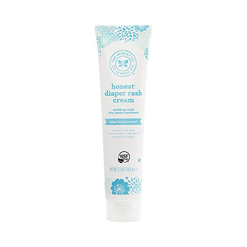 The Honest Company Diaper Rash Cream with Organic Shea Butter, Jojoba, Tamandua & Coconut Oil | Organic Plant & Mineral-Derived Ingredients | NSF Certified & Paraben Free | 2.5 oz. (Best Natural Baby Cream)