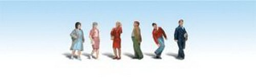 Woodland Scenics HO Scale Scenic Accents Figures/People Set People Walking (6)