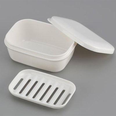 siyaful Plastic with Lid Draining Soap Box Portable Leakproof Soap Case Candy colors Seal Soap Dish by siyaful