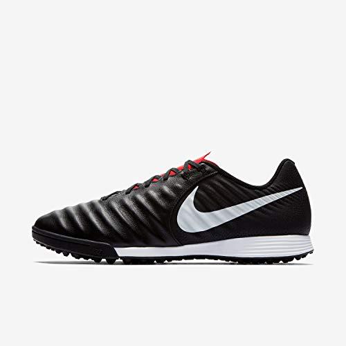 (Nike Men's Legend VII Academy Turf Soccer Shoe (11.5 D US, Black/Light Crimson/Pure Platinum) )