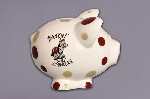 Ceramic Collegiate Piggy Bank Florida State Seminoles