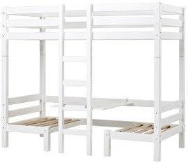 Litera XXL Jumbo colour: blanco, somier: somier listones ...