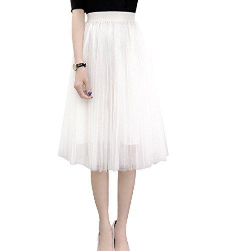 Women's A Line Knee Length Tutu Tulle Prom Party Dance Skirt (S-M, (Length Tutu)