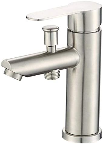 ZGQA-GQA シャワーヘッド浴室のシャワー温水と冷水がバルブ混合ノズルとシンクミキサータップマウントされたステンレス鋼流域の蛇口デッキ ミキサーシンク用の浴室キッチン盆地タップ