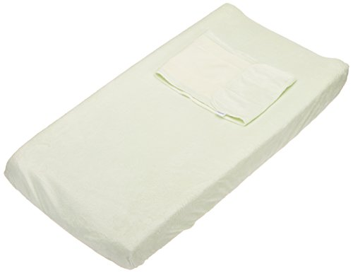 HALO SleepSack SwaddleChange Diaper Pad Covers, Sage, Newborn (Cover Bumkins Diaper)