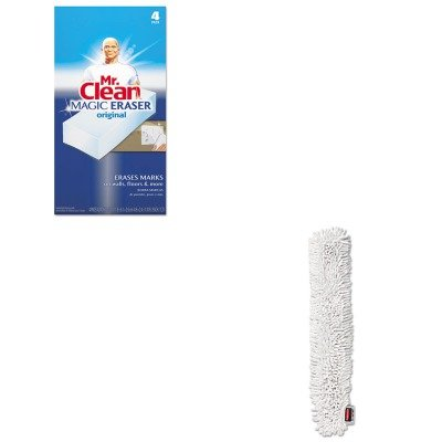 KITPAG82027RCPQ853WHI - Value Kit - RUBBERMAID COMMERCIAL PROD. HYGEN Quick-Connect Microfiber Dusting Wand Sleeve (RCPQ853WHI) and Mr. Clean Magic Eraser Foam Pad (PAG82027) by Unknown