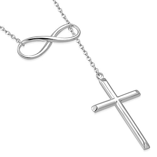 - My Daily Styles 925 Sterling Silver Infinity Cross Religious Pendant Necklace