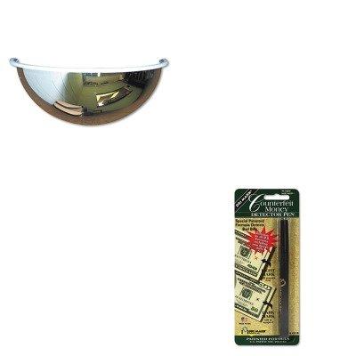 Half Dome Convex Mirror - KITDRI351B1SEEPV26180 - Value Kit - See-All Industries Half-Dome Convex Security Mirror (SEEPV26180) and Dri-mark Smart Money Counterfeit Bill Detector Pen for Use w/U.S. Currency (DRI351B1)