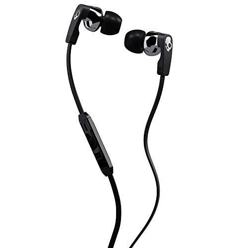 Skullcandy Strum Maximum Comfort Earbud with Universal In-Line Microphone and Remote, Supreme Sound Acoustics, Flexible Design To Match All Ears, Tug and Pull Resistant, Street/Black