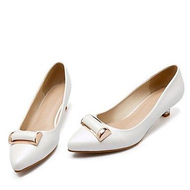 Pump Blushing 3 Casual Gold ggx 4in Pink Basic us6 1in Women's Spring 1 Basic pink Pump LvYuan eu36 PU cn36 uk4 White blushing Heels pzavw