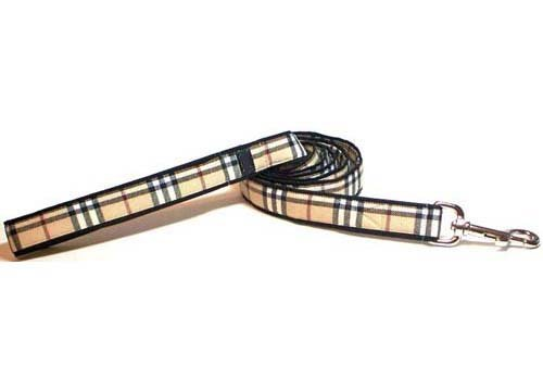 Buckingham (Burberry Like) Plaid Leads By Three Boys of Scottsdale Pet Boutique (3/4 inch X 5 Foot) from Unknown