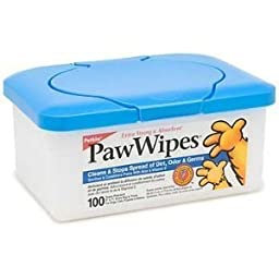 Petkin Paw Wipes, 100-Count Pack (Pack of 4)