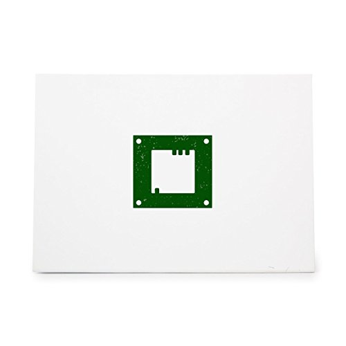 Microchip Computer Digital Electronics Processor Style 12898, Rubber Stamp Shape great for Scrapbooking, Crafts, Card Making, Ink Stamping Crafts