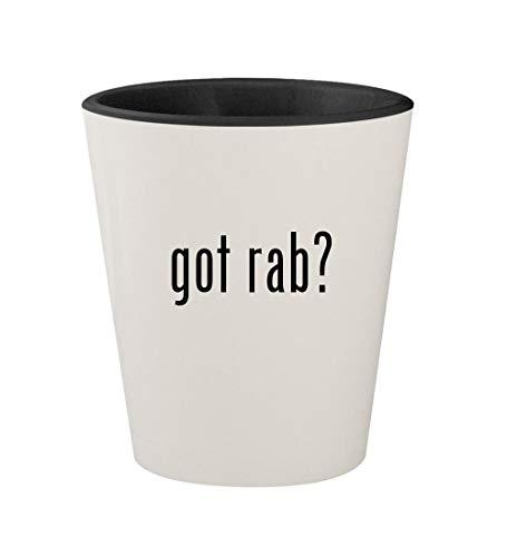 (got rab? - Ceramic White Outer & Black Inner 1.5oz Shot Glass)