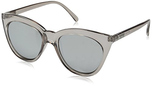 Le Specs Women's Half Moon Magic Sunglasses, Stone/Smoke Mono Silver Mirror, One - And Moon Sun Sunglasses