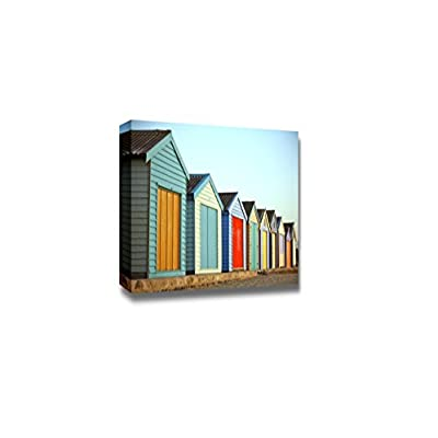 Canvas Prints Wall Art - Bright Colorful Painted Wooden Houses | Modern Wall Decor/Home Art Stretched Gallery Canvas Wraps Giclee Print & Ready to Hang - 24