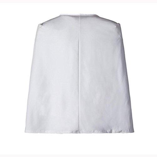 Court Loose Cape Manteau Trench Femmes Cardigan Blazer Vovotrade Manteau Veste Blanc Outwear qZHwpSE