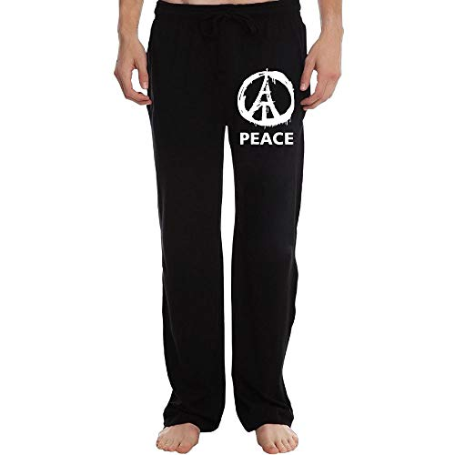 Men's Jogger Sweatpants Peace Paris Drawstring Lounge Pants