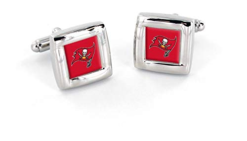 - NFL Tampa Bay Buccaneers Square Cuff LinksSquare Cuff Links, Team Color, 4