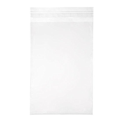 ClearBags 5 15/16 x 8 3/4 + Flap Crystal Clear Seal Top Bags with Resealable Adhesive on Flap, Not Bag | Protects Photos, Artwork, Crafts, Favors | Acid Free and Archival Safe | B59A (1 Pack of 100)
