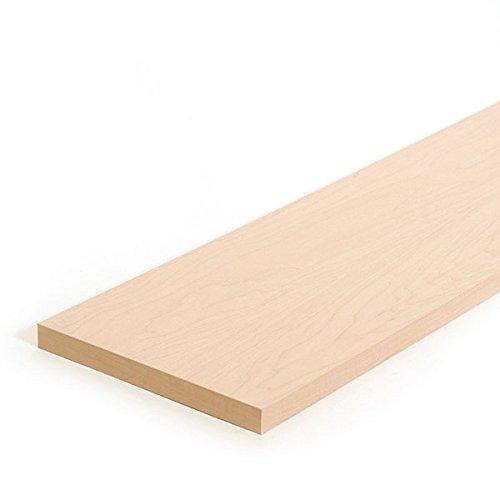 Case of 4 New Maple Flat Shelf 46''w x 8''d Fits Adjustable Bookcase by Flat Shelf