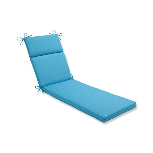 Pillow Perfect Outdoor Veranda Turquoise Chaise Lounge Cushion ()