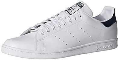 adidas Men's Originals Stan Smith Sneaker, White/White/Dark Blue, 7 M US