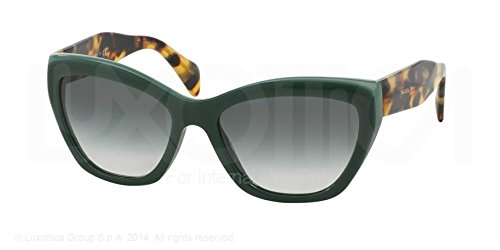 Prada PR 2QS TFO1E0 Opal Green Cat Eye Sunglasses, - Name Brand Sunglasses
