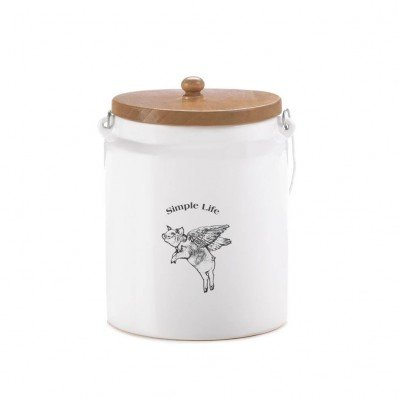 Home Locomotion Flying Pig Large Canister